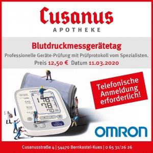 Blutdruckmessgeräte-Tag am 11. März 2020